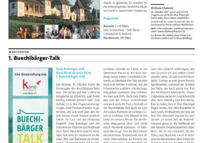 1. Buechibärger-Talk im Azeiger vom 21.09.2017