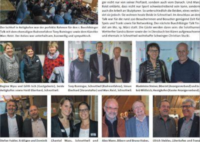1. Buechibärger-Talk mit Klick-Seite im Azeiger vom 7.11.2017