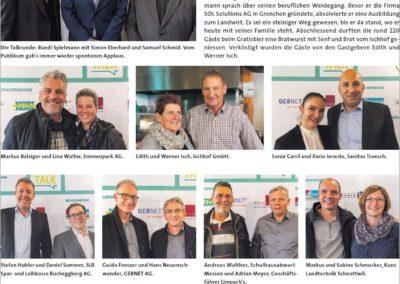 3. Buechibärger-Talk mit Klick-Seite im Azeiger vom 8.11.2018